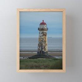 Talacre Lighthouse Framed Mini Art Print