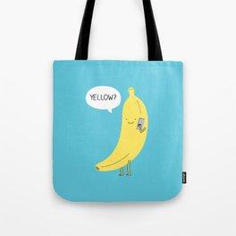 Banana on the phone Tote Bag