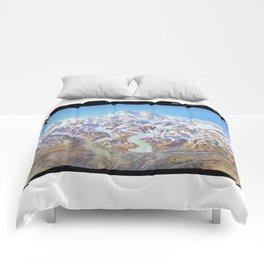 Sky Panorama Map of Denali National Park Labeled Comforters