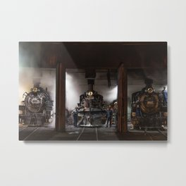 Locomotives Photograph Metal Print