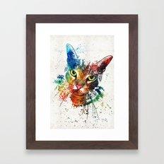 Colorful Cat Art by Sharon Cummings Framed Art Print