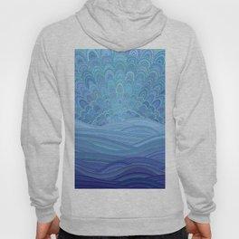 Blue Mandala Sunset at the Ocean Hoody