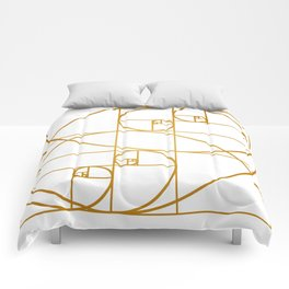 Golden Waves Comforters