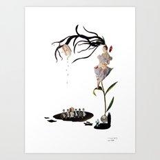 three Art Print