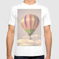 Magical pink balloon Mens Fitted Tee MEDIUM White