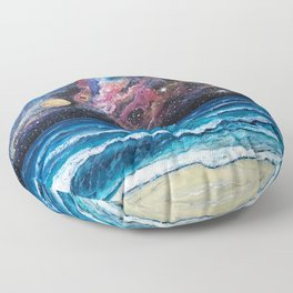 Space Beach Floor Pillow