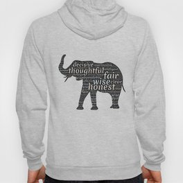Elephant with words Hoody