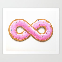 Sweet Infinity Donut - Yummy forever and ever and ever Art Print