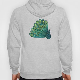 Peacocks in Emerald Forest Hoody