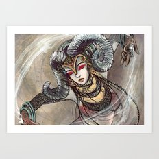 Zodiac Sign: Aries Art Print