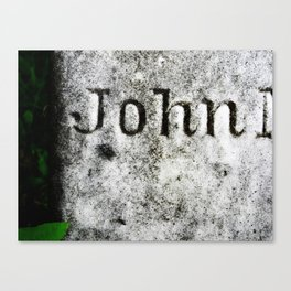 John's Grave Canvas Print