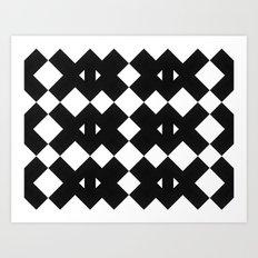 Branting Black & White Pattern Art Print