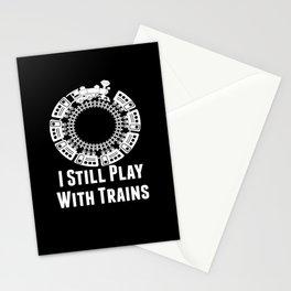Train Tracks Wagon Train Driver Jo Stationery Cards