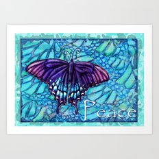 Butterfly Peace Art Print