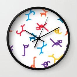 Balloon animals pattern #1 Wall Clock