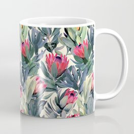 Painted Protea Pattern Coffee Mug