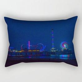Galveston Pleasure Pier At Night Rectangular Pillow