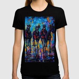 Roaming Free by OLenaArt/ Lena Owens T-shirt