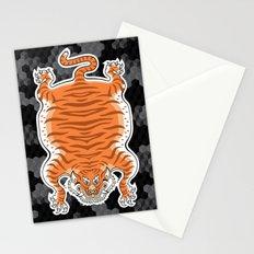 TIBETAN TIGER GOLDEN (black) Stationery Cards