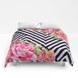 flowers geometric Comforters