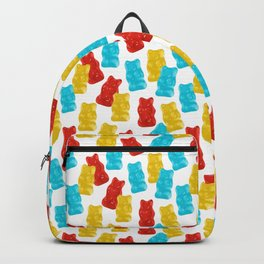 Red, Yellow and Blue Gummy Bear Candy Backpack
