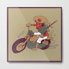Bike Adventure Metal Print