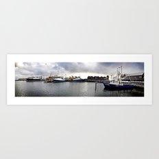 Fremantle Marina Art Print