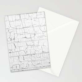 Aged crackled white paint texture Stationery Cards