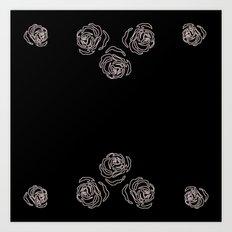 rose border 4 Art Print