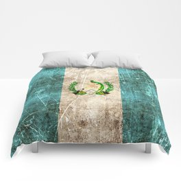 Vintage Aged and Scratched Guatemalan Flag Comforters