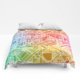BRIGHT VIBRANT GRADIENT GEOMETRIC SHAPES RAINBOW PRINT TILED MOSAIC TIE DYE COLORFUL Comforters