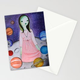 My hair is being pulled by the stars again Stationery Cards