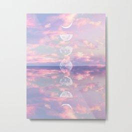 Moon Reflection Sunset Metal Print