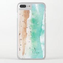 Beach Mood Clear iPhone Case