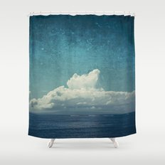 cloud over island Shower Curtain