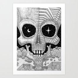 Astro Skull Art Print