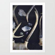 Stag & Stone Art Print
