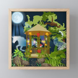 Full Moon Magical Garden Framed Mini Art Print