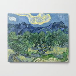The Olive Trees by Vincent van Gogh Metal Print