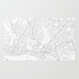 Hamburg, Germany Minimalist Map Rug
