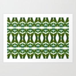 Palm Leaf Kaleidoscope (on white) #2 Art Print
