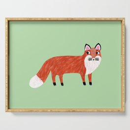 Red Fox Painting Serving Tray