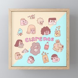 Clarence Framed Mini Art Print