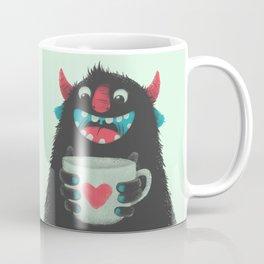 Demon with a cup of coffee Coffee Mug