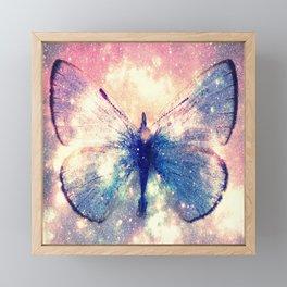 Celestial Butterfly Deep Pastels Framed Mini Art Print