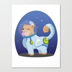 Corgis in Space Canvas Print