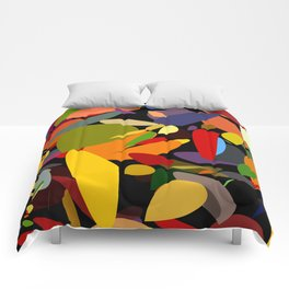 Colorful pebbles on black Comforters