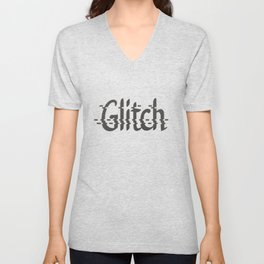 Glitch Graphic Unisex V-Neck