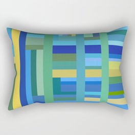 Cool Color Composition Rectangular Pillow