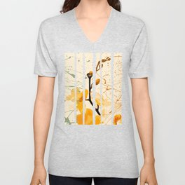 Yellow Orchid Unisex V-Neck